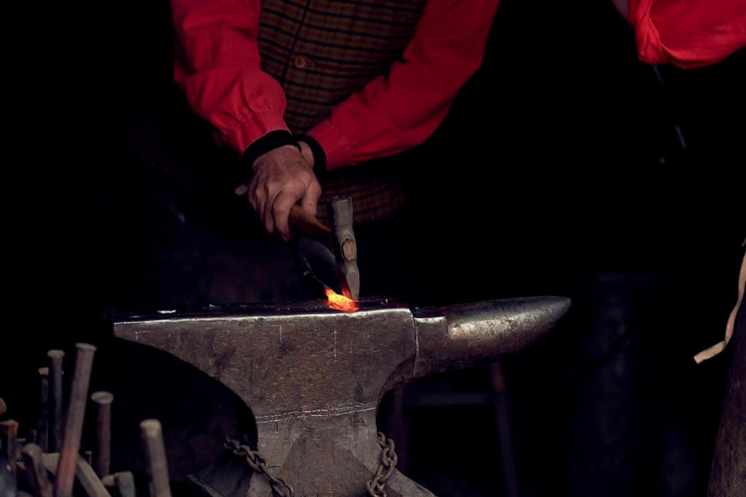 Vintage Blacksmith at work