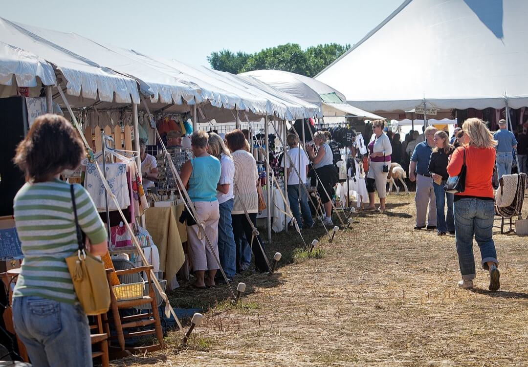 Art set up during Annual Holly Berry House Folk Art Festival