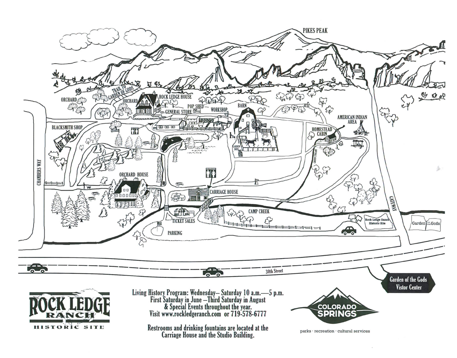 Map of Rock Ledge Ranch
