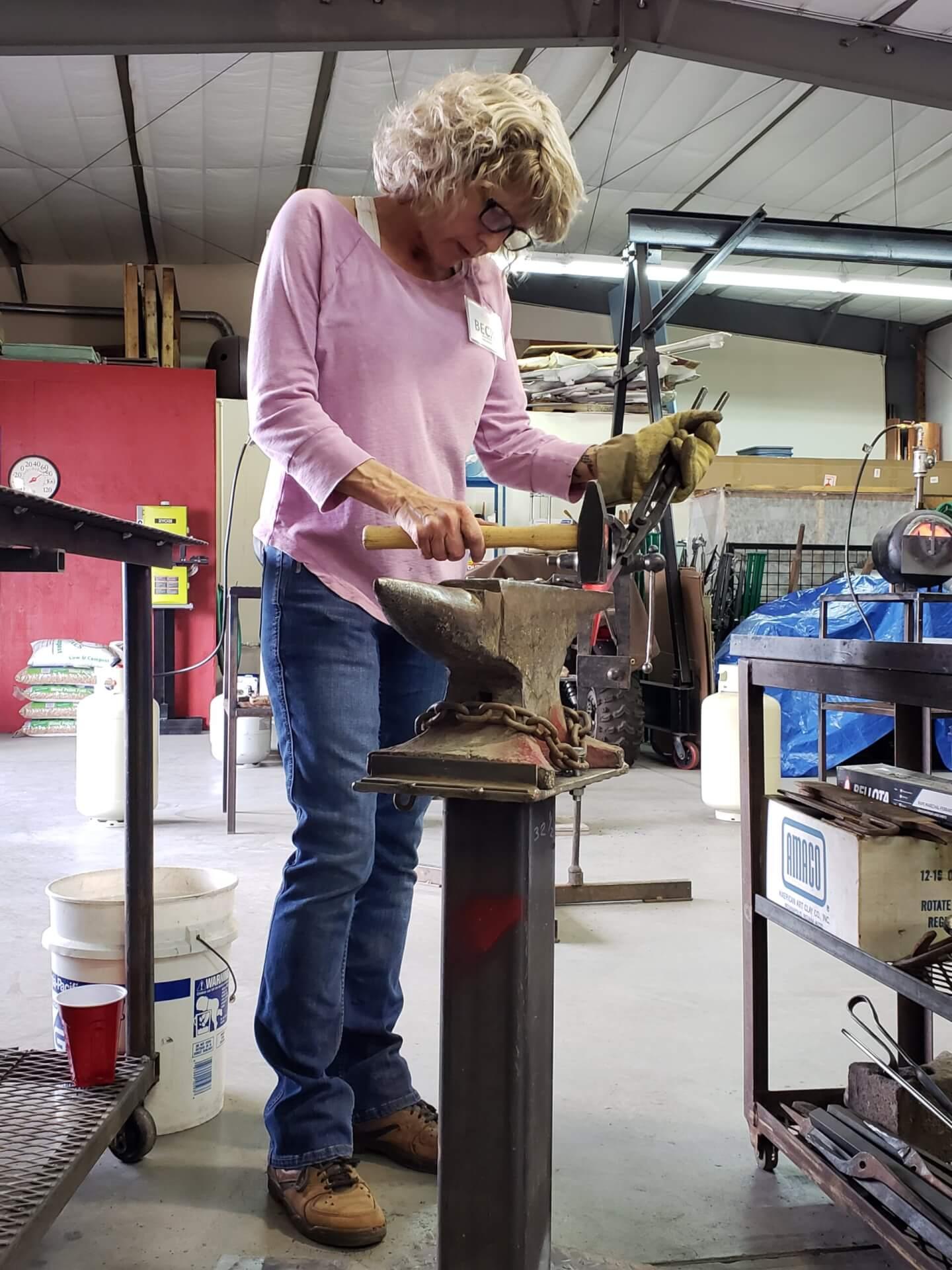 blacksmith student